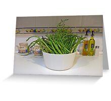 Fresh asparagus Greeting Card