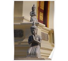 Buddhist statues at palace in Phnom Penh, Cambodia Poster