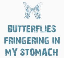 Butterflies fringering in my stomach Kids Clothes