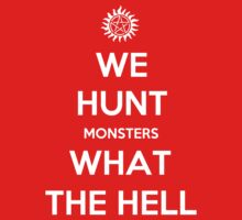 We Hunt Monsters What The Hell T-Shirt
