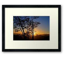 Sunset over Hollywood Framed Print