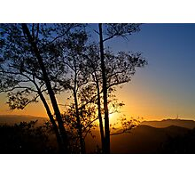 Sunset over Hollywood Photographic Print