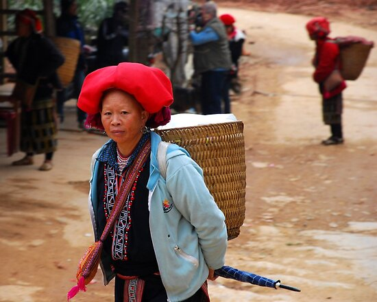 Red Dzao tribal woman from north Vietnam by mechelle142