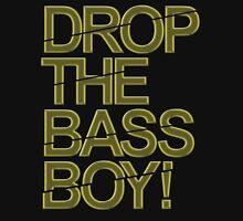 Drop The Bass Boy! (Golden) Womens Fitted T-Shirt