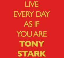 Live Every Day Like You Are Tony Stark by GrlizzyBear