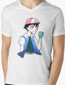 Pokemon: Ash Ketchum Mens V-Neck T-Shirt