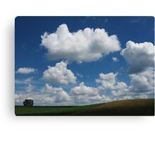 Hill with Cumulus Canvas Print
