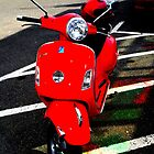 Red Vespa by Amanda Vontobel Photography