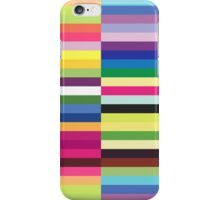 Compelling Colorful Striped Pattern iPhone Case/Skin