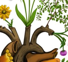 Harvest Peace, Grow Love - Bee Here Now Sticker