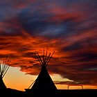 Tipis in the sunset by Cgrayson