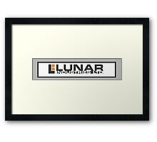 Lunar Industries (Moon) Framed Print