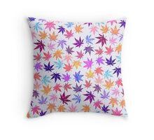 White Autumn Hempy Pattern Throw Pillow