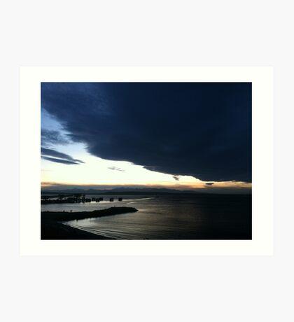 Puget Sound sunset at Edmonds Art Print