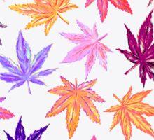 White Autumn Hempy Pattern Sticker