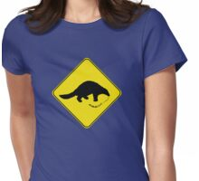 Pangolin Crossing Womens Fitted T-Shirt