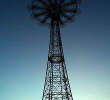 Parachute Drop - Coney Island by Amanda Vontobel Photography