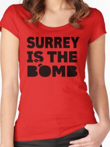 Surrey Is The Bomb dot com 3.0 Women's Fitted Scoop T-Shirt