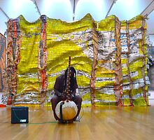 Museum Musician By Jonathan Green by Jonathan  Green