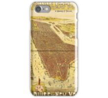 Panoramic Maps Gracie Emmett in her great play the Pulse of New York iPhone Case/Skin