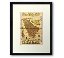 Panoramic Maps Gracie Emmett in her great play the Pulse of New York Framed Print