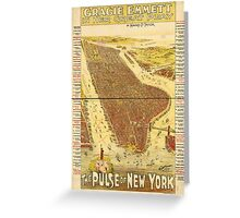 Panoramic Maps Gracie Emmett in her great play the Pulse of New York Greeting Card