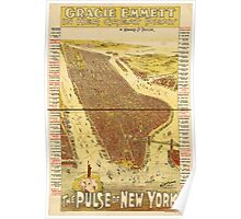 Panoramic Maps Gracie Emmett in her great play the Pulse of New York Poster