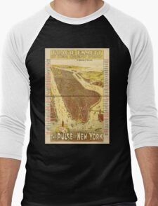 Panoramic Maps Gracie Emmett in her great play the Pulse of New York Men's Baseball ¾ T-Shirt