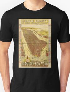 Panoramic Maps Gracie Emmett in her great play the Pulse of New York T-Shirt