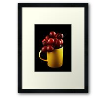 Mug with Grapes Framed Print