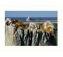 The Fencepost & the Lighthouse Art Print