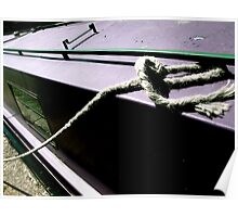 purple houseboat, regent's canal Poster
