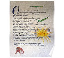 Once I was a Student - Illuminated Calligraphy Poster