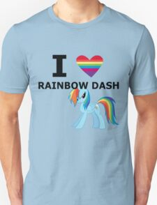 I Heart Rainbow Dash Unisex T-Shirt