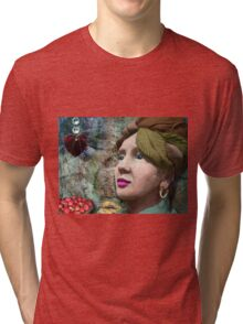 the red heart of a stone lady Tri-blend T-Shirt