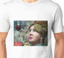 the red heart of a stone lady Unisex T-Shirt