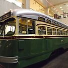 Vintage Philadelphia PCC Trolley, SEPTA Museum, Philadelphia, Pennsylvania  by lenspiro