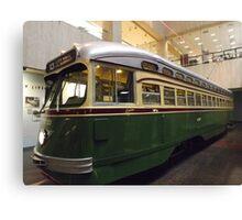 Vintage Philadelphia PCC Trolley, SEPTA Museum, Philadelphia, Pennsylvania  Canvas Print
