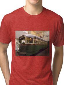 Vintage Philadelphia PCC Trolley, SEPTA Museum, Philadelphia, Pennsylvania  Tri-blend T-Shirt