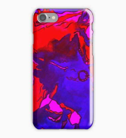 Pony In Neon Pink and Blue iPhone Case/Skin
