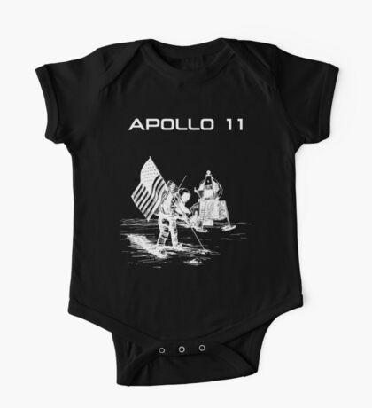 Apollo 11 - White ink One Piece - Short Sleeve