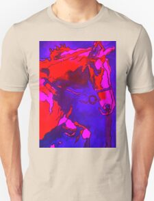 Pony In Neon Pink and Blue Unisex T-Shirt