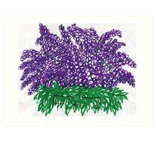 heaven purple grape flowers  Art Print