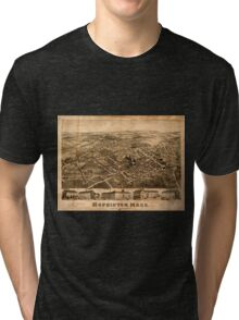 Panoramic Maps Hopkinton Mass Tri-blend T-Shirt