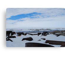 Antarctic Rubbish Canvas Print
