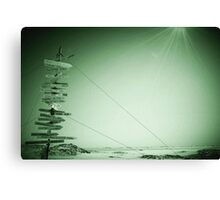 Antarctic Signpost Canvas Print