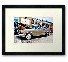 Mustang on Main Framed Print