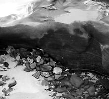 Rainbow Beach Rockpool (b&w) by Sammy Nuttall