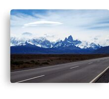 Lenticular Clouds over FitzRoy Range ,  Patagonia Canvas Print