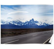 Lenticular Clouds over FitzRoy Range ,  Patagonia Poster